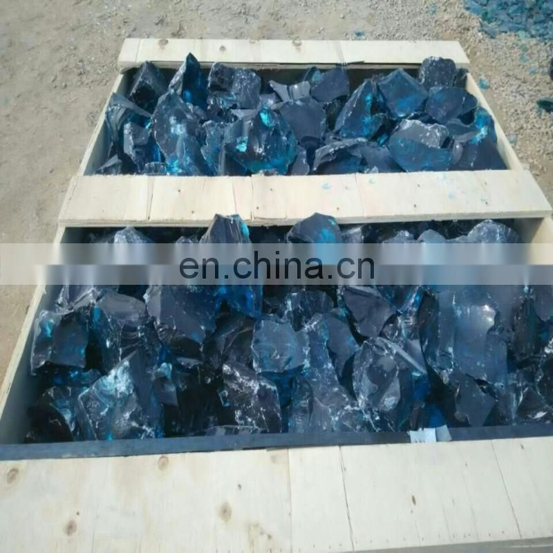 shiny dark blue glass rocks