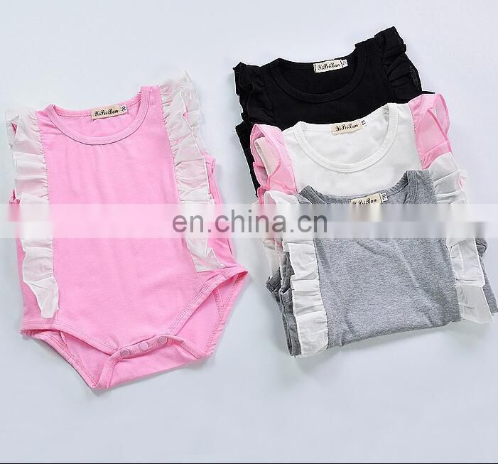 Korean Baby Girl Summer Set Wholesale One Piece Baby Clothes Romper Fashion Baby Clothes Sets