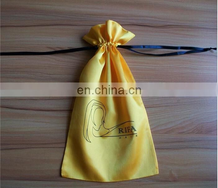 luxury Drawstring Jewelry/hair extension Bag Satin with Tassel
