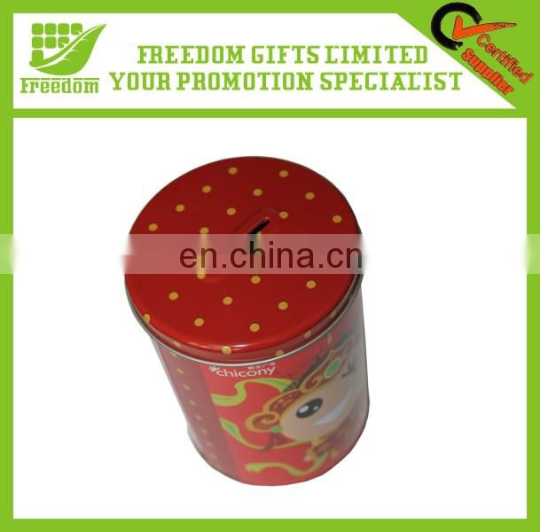 Logo Customized Promotional Tinplate Coffee Container