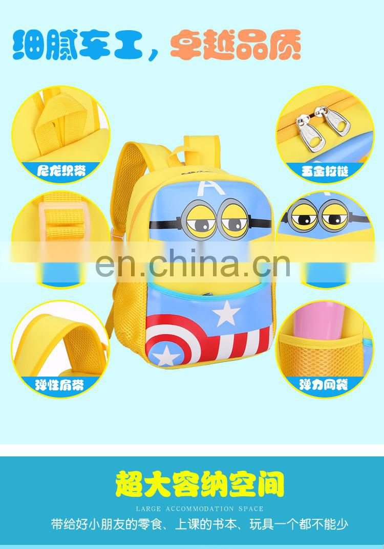 New Arrival 3D cartoon Minions backpack
