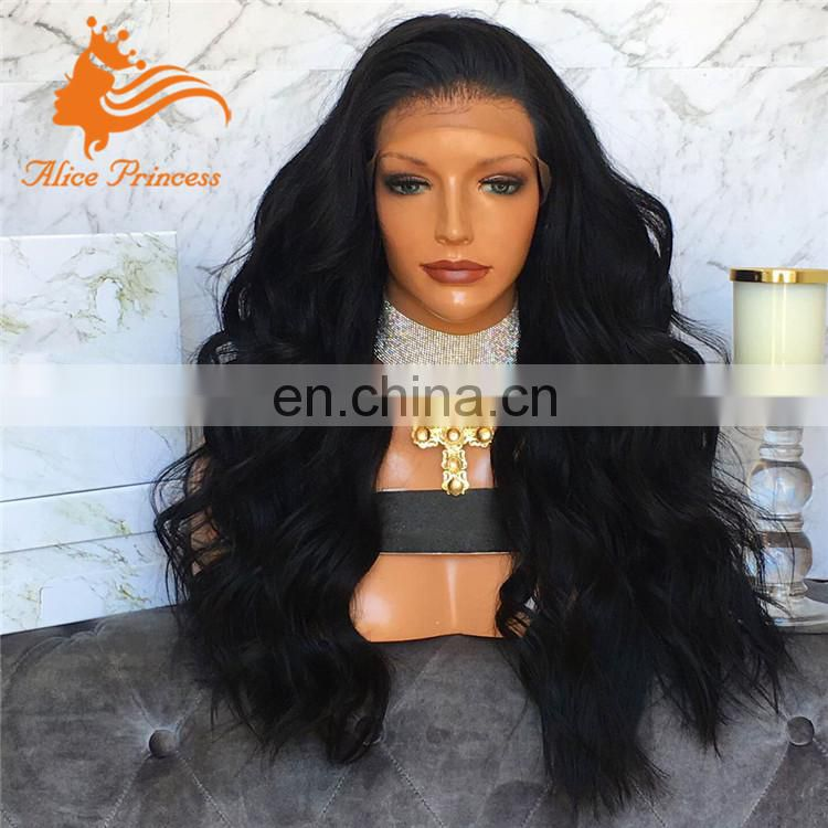 Heavy Density Smooth Natural Baby Hair Wholesale Full Lace Wig Black Virgin Human Hair Wave Glueless Wigs For Black Women
