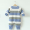Kids Long Sleeve Knitted 100% Cotton Rib Footed Pajama Baby Girl Rompers