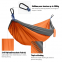 Outdoor Nylon Parachute Camping Portable Hammock with Double Straps