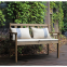 wooden outdoor garden table chair