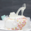 3D High Heel Shoe Kits Silicone Mould Fondant Cake Decorating crystal shoe Silicone Cake Mold