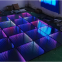 3D mirror abyss dance floor led panel tile for club stage