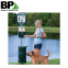 perforated square sign post for pet waste station with low price