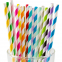 Paper Drinking Straws Rainbow Colorful Pattern Paper Straws Decorations
