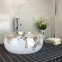 Wholesale counter mounting european square no hole decal ceramic art wash basin