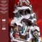 9L LED Musical Ski Scene with  Polyresin Christmas House Decoration