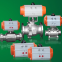 three stops spring return double acting pneumatic actuated rotary angle 90degree for ball valve and butterfly valve