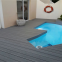 Waterproof wood plastic composite materials WPC outdoor decking for swimming pool
