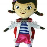 Doll character plush backpack