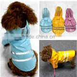 reflection Light hat waterproof function pet raincoat wholesale dog clothes