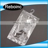 PVC packaging bags hanger hole/bottom opened PVC bags with colorful print                                                                         Quality Choice