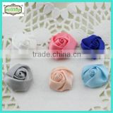 Cheaper hot sale mini 2cm satin fabric flowers for wedding dresses                                                                         Quality Choice