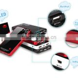 Solar Power Bank 6000mah high capacity power bank, battery charger for Mobile phone /pad/camera