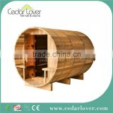 Large 6 person log cabin outdoor sauna