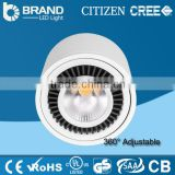 High Quality IP44 Indoor Using CREE Chips Lifud Driver Surface Mount Adjustable 20W 30W COB LED Round Downlight
