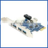 PCI-E Express Adapter to 5 Port USB 3.0 HUB Card with 19/20 pin USB 3.0 Header Internal Chipset Expansion Card