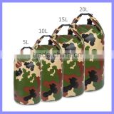 Portable 5L to 30L Camouflage Waterproof Bag Storage Dry Bag For Outdoor Canoe Kayak Rafting Camping Climbing Hike