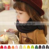 Fashion Trend All-match Autumn Winter Warm Soft Acrylic Baby Kids Boys Girls Solid Plain Scarf