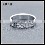 2016 Stainless Steel Custom Cut-out Some Alphabets Link Band Ring