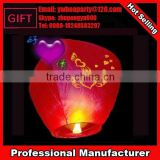 Top selling flame retardant lovely sky lanterns fire with candle
