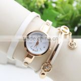 Latest Crystal Geneva Leather Girl Lady Strap Quartz Women Bracelet Wrist Hand Watches Rhinestone China Watch