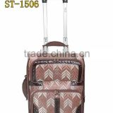 Nylon fabric High quality trolley luggage bag and 100% real carbon fiber case