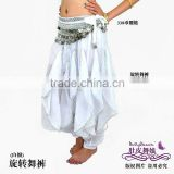 white belly dance harem pants,chiffon costume for belly dancing,belly dance wear,belly dance clothes