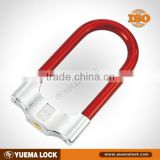 U shackle lock for motorbike, motorcycle, scooter, double locking, security cylinder system