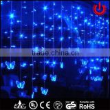 2016 new LED blue wedding decorative butterfly icicle curtain lights                                                                         Quality Choice