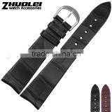 Customized 20mm high quality genuine alligator leather Watch Strap Black Brown Wholesale 3PCS