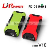 12v 12000mah deep cycle lithium ion battery car jumper with mini air compressor