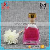 Wholesale 55ml square perfume glass reed diffuser bottle with metal cork                                                                                                         Supplier's Choice