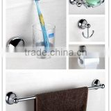 zinc clothes-hook Toothbrush cup frame soap basket toilet paper rack towel bar bathroom accessories 5 pcs set