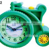 plastic wheel shape alarm clock, analog melody music desktop clock, electron bell table alarm clock
