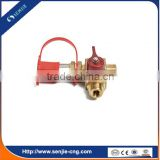 auto fuel system gas filling valve with nozzle