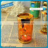 home decoration moroccan candle holder with golden color