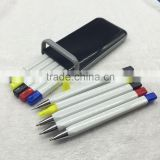 Hot selling 5 in 1 Gift pen set with ball pen, pencil, highlighter pen                                                                         Quality Choice
