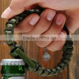 wholesales high quality bracelet Beer Opener metal paracord bottle opener
