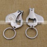 Custom practical finger nail clippers/toe nail clipper bottle opener with laser printing logo