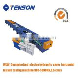 Tenson Computerized Electro-hydraulic Servo Horizontal Tensile Testing bench for metal chain