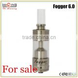 Yiloong hot new products for 2015 healthy electrical cigarette fogger 6 rda fogger 6.0 rta 4 post fogger v6 atomizer