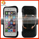 factory price For Apple Iphone 6/ 6s / 6s plus/6plus heavy support rack 360 degree pvc rotating mobile phone protective case