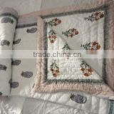 Custom Design Hand Block Print Designer kantha Quilts Razai Manufactures In India ,Custom Size