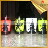 halloween candle spider web picture pattern glass candle party home decoration art candle