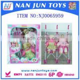 Hot Selling Baby Doll Twin Strollers with 14 inch doll and 12 sounds